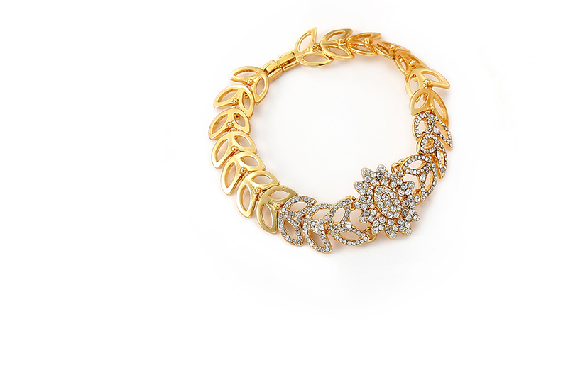 AYAYOO Bridal Women African Beads Jewelry Set Heart Pendant Party Fashion Jewelery Sets Imitation Crystal Costume Jewellery (5)