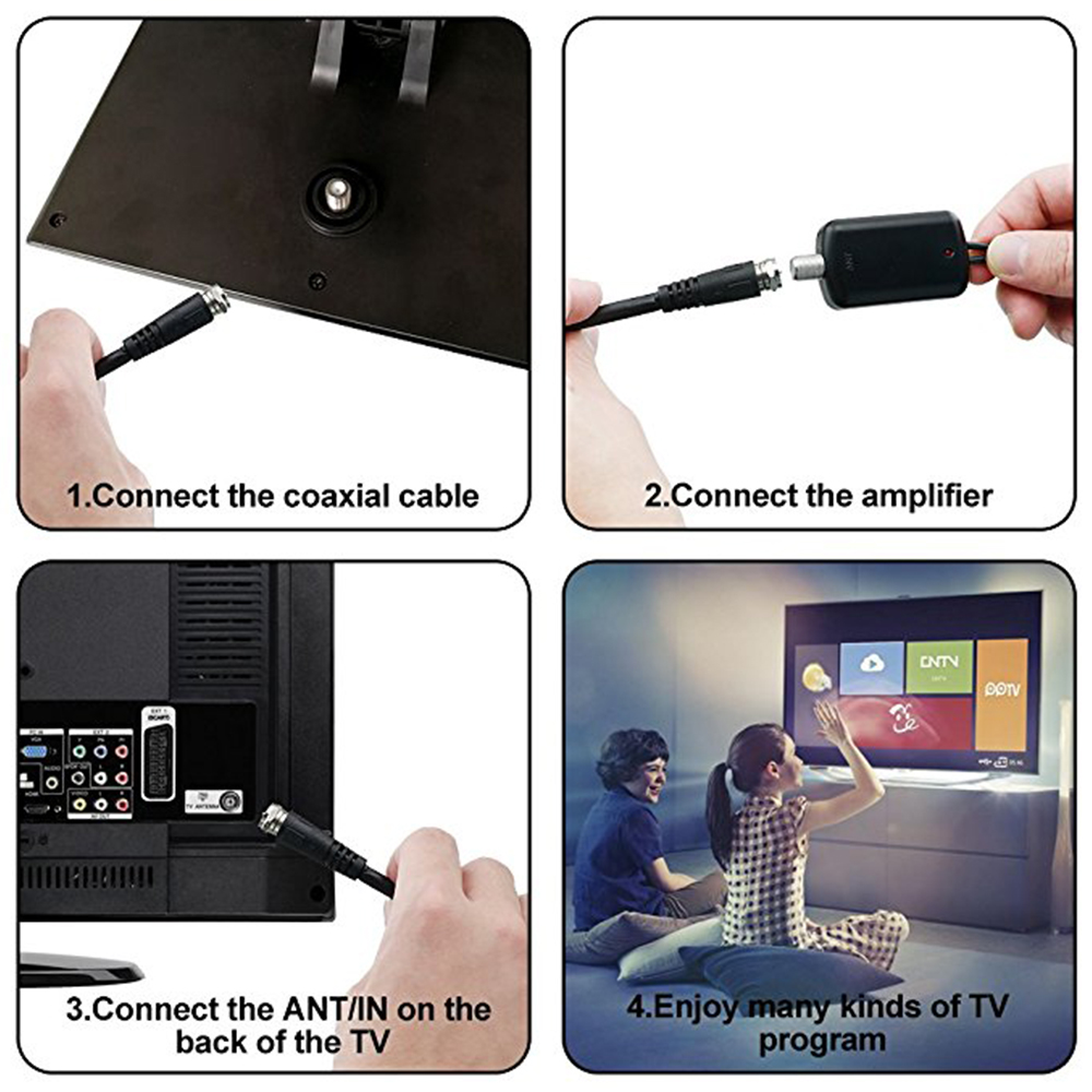 Antena Digital HDTV 160miles IndoorOutdoor Amplified TV Antenna Antena TV Surf with Detachable Amplifier Signal Booster 32.8ft Coax Cable (5)