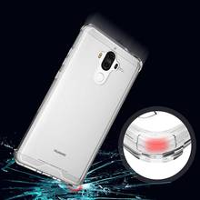 Anti knock Clear Protective Case For Huawei Mate 9 Case Coque Shockproof Hard back cover For Mate9 case cover Fundas(China)