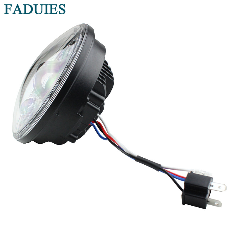 FADUIES 2018 New Motos Accessories 5.75 Adaptive Headlight Motorcycle for Harley 5-34 Motorcycle Black Projector Daymaker (5)