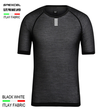 SPEXCEL Italy MITI Fabric Elite Pro Team Base Layer Short Sleeve cycling T shirt men women Mesh Breathable Sport underwear(China)