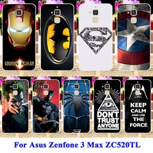Cell Phone Case For Asus Zenfone 3 Max ZC520TL X008D Zenfone horse 3 X008 Pegasus3 Cover Soft TPU Hard PC Batman Patterned Shell
