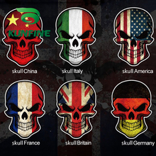 KUNFINE Car Styling sticker Flag skull Car Sticker Vinyl Decal Decoration film Car Diy Sticker Tuning parts(China)