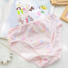 Lovely Pattern Baby Girls Comfortable Cotton Underwear Panties Little Girls Kids Cute Pattern Short Briefs Underpants 6pcs/pack(China)