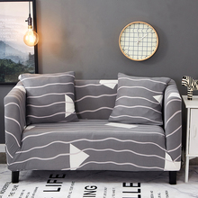Brief Stripes All-inclusive Tight Sofa Slipcovers For Living Room Universal Stretch Furniture Covers Single Loveseat Corner Sofa(China)
