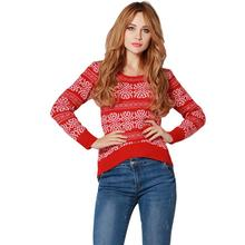 Spring Autumn Fashion Women Sweater Thin Knitting Cotton Printed Floral O-Neck Crochet Pullover Long Sleeve Slim Casual Modern
