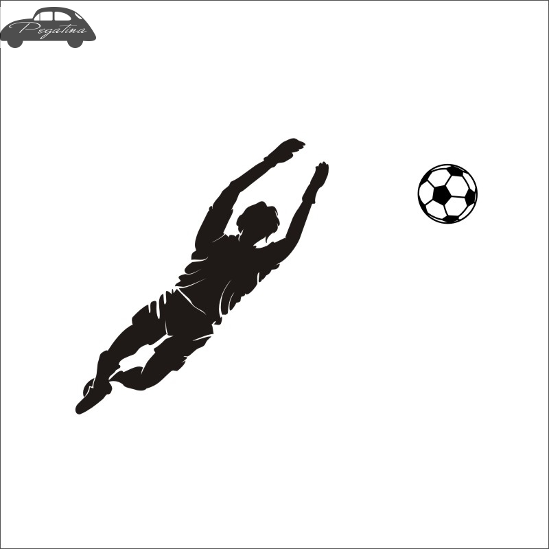 Football Goalkeeper Player Sticker Sports Soccer Car Decal Helmets Kids Room Name Posters Vinyl Wall Decals Football Sticker
