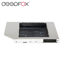 DeepFox High quality 2nd hdd caddy IDE to SATA 9.5mm Exchange DVD Driver Case For Laptop Universal Aluminum