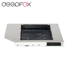 DeepFox High quality 2nd hdd caddy IDE to SATA 9.5mm Exchange DVD Driver Case For Laptop Universal Aluminum(China)