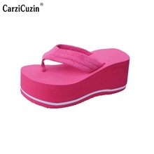 Ladies Wedges Sandals Women Platforms Flip Flops Trifle Sandals Sexy Summer Shoes Beach Vacation Leisure Footwears Size 35-39