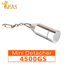 4,500GS Mini Detacher Magnetic Portable Detacher Security EAS Hard Tag Remover Silvery For Supermarket etc(China)
