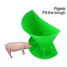 The pig trough Pig equipment instrument with thick wall hanging combined piglets feeding trough obstetric table feed troughd39(China)