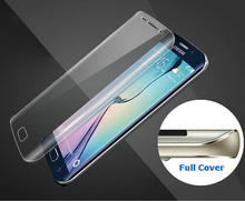 Full Coverage Soft TPU Film Screen Protector For Samsung Galaxy S6 S7 Note 7 Edge Plus Cover Curved Part (Not Tempered Glass)