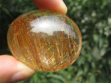 only one!!!!     51g(255 ct) Natural Hair Rutilated Quartz Crystal Pendant Cab China YARC011