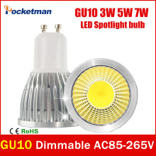 Super Bright GU10 LED Bulb 3W 5W 7W LED lamp light GU10 COB Dimmable GU 10 led Spotlight Warm/Cold White Free shipping