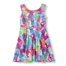 Buy Fashion Children Clothing Summer Sleeveless Print Vest Sundresses 4-10 Big Girls Knee Length Bunny Animal Baby Dress for $14.74 in AliExpress store