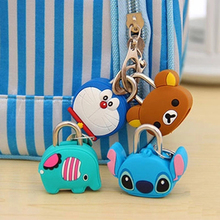 Cute Creative Mini Cartoon Silicone Metal Luggage Suitcase Lock Padlock Backpack Handbag Suitcase Drawer Cabinet