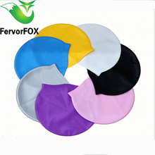 1 Piece Solid Swimming Cap 100% Silicone Swimming Hats Water-proof Adult Caps Men Women Children(China)