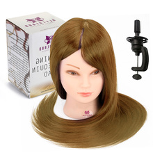 "24"" 70% Animal Hair Hairdressing Training Head Hair Styling Cosmetology Practice Mannequin Doll Manikin Hair Styling Salon Model(China)"
