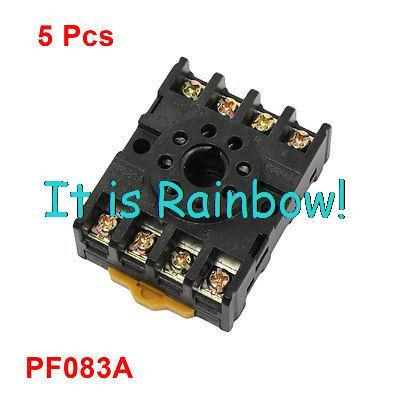 Free Shipping 5 Pcs PF083A Time Relay Base Socket 8 Pin for JTX-2C JQX-10F<br><br>Aliexpress