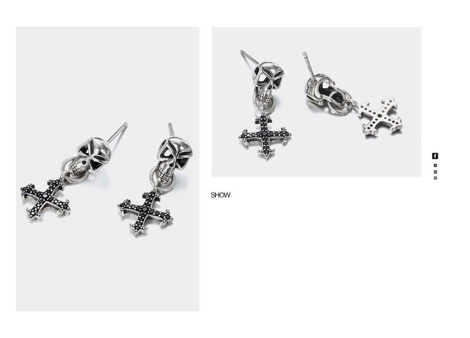 Say-You-Say-Me-925-Sterling-Skull-Earrings-Wholesale-Fashion-Black-Zircon-Cross-Earrings-Unisex-Best-T10