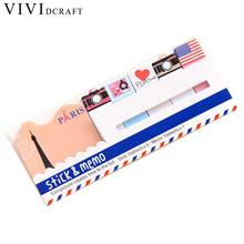 Vividcraft Office Supplies 1pc Fly London Sticker Bookmark Marker Memo Flags Sticky Note Papelaria Diary Stickers Stationery(China)