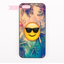 cool smile emoji Hard Back Cover Phone Case For iphone 4 4s 5 5s 5c se 6 6S 7 Plus iPod Touch cases hipster fashion smiley face