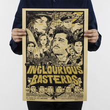 Inglourious Basterds/a Quentin movie/classic Hollywood movie/kraft paper/bar poster/Retro Poster/decorative painting 51x35.5cm(China)