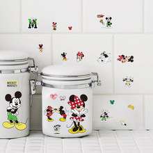 Cartoon DIY Little Mickey Mouse Wall Stickers For Kids Rooms Cup Notebook Computer Wall Decals Children Nursery Room Decor Gift