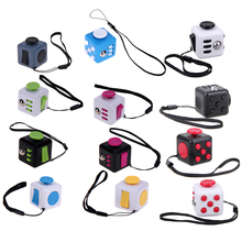 Mini Squeeze Fun Fidget Cube Toy Dice Anxiety Attention Anti Stress Puzzle Magic Relief Adults Funny Fidget Toys Color Random(China)