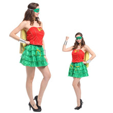 New Women Robin Superman Cosplay Halloween Superwoman Costume Easter Purim Carnival Masquerade masked ball Festival parade dress(China)
