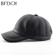 BFDADI Winter Imitation Sheepskin Baseball Cap New Biker Trucker Outdoor Sports Snapback Hats Warm Caps Large Size 60 cm(China)
