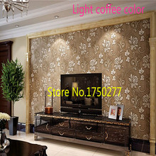 Free Shipping +European high-grade wallpaper bedroom living room TV backdrop Cheap 3D Wall Stickers decoration 10 meters a roll