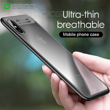 OICGOO Ultra Thin Silicone Transparent TPU & PC Full Cover Cases For iphone 8 7 6 Plus 6S 7 8 Case For iphone X Phone Case Coque(China)