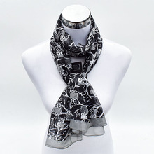 2017 New Brand Design Animal Print Woman Long Chiffon Silk Scarf Summer Wraps Shawl Owl Scarves P5A16763