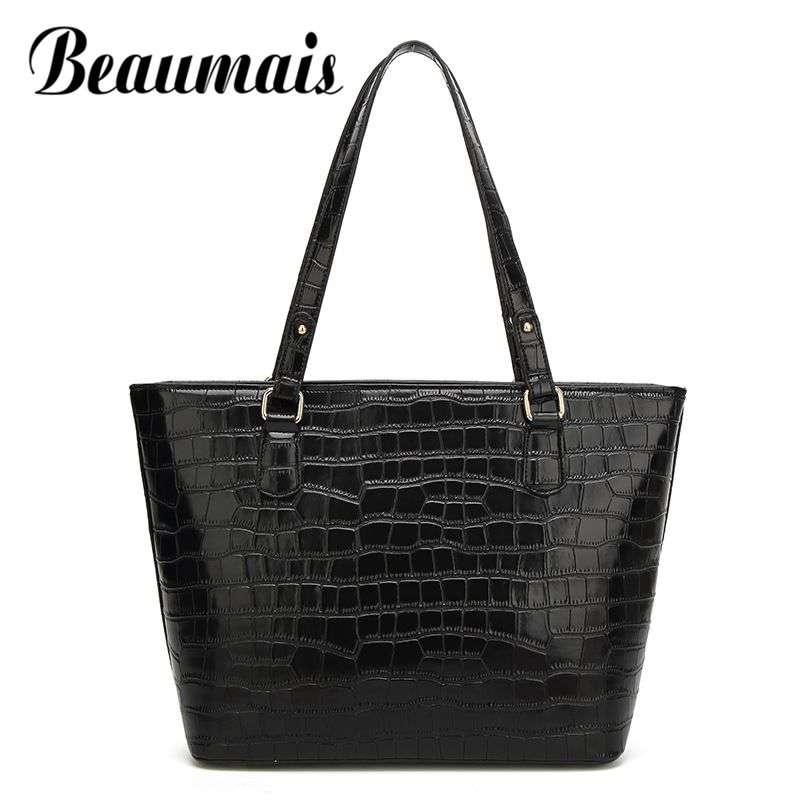 Beaumais Fashion Women Bag Crocodile Shoulder Bag For Wome Luxury Handbags Women Bags Designer High Quality Famous Brand DF0018<br>