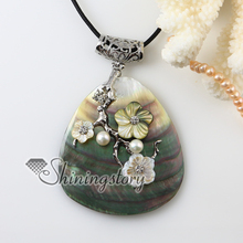 tree flower white oyster shell  Penguin Oyster Shell freshwater pearl rhinestone necklaces pendants 2013 cheap fashion jewellery