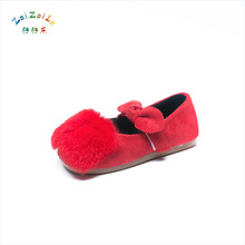 Wholesale Girls Princess Cotton Shoes 2017 Casual Plush Keep warm Kids Shoe Non-slip Fashion New Children's Footwear Shoes(China)
