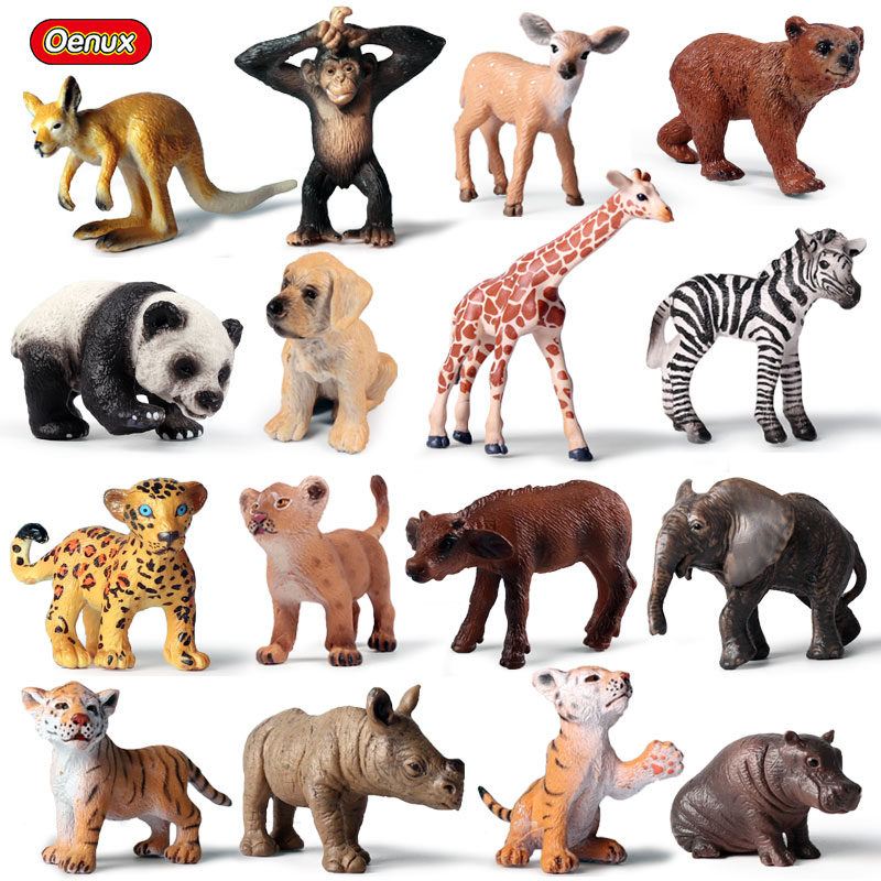Jungle World Wild Life Creatures Lion Figures 5 Pack Kids Toy Science Educations