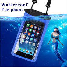 Universal IPX8 Waterproof Underwater Pouch Bag For Huawei Honor 9 8 V8 7 7i 6 HTC Desire 628 728 626 826 816 Oukitel K6000 Pro