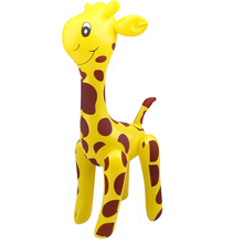 Friendly PVC Giraffe Design Inflatable Toy Children Deer Shaped Balloons Inflatable Cartoon Animals For Cute Baby Toys