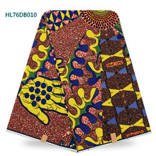 African wax print fabric,100% cotton fabrics textile for wedding dress,african batik fabric wholesale Price HL76DB010 yellow