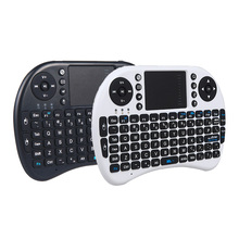 2.4G Mini Wireless Keyboard Russian Version QWERTY Keyboards Mouse Touchpad for PC Notebook Android TV Box HTPC Black Backlight