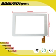 "A+  10.1"" Capacitive Touch Screen Replacement For Sanei N10 AMPE A10 TPC0187 VER1.0 263*172mm White Color"