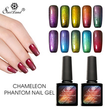 Saviland 1pcs 3D Color Phantom Gel Chameleon Mood Change UV Gel Varnish Gel Starry Sky Effect Nail Polish Christmas Gift(China)