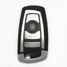 4 Buttons Smart Remote Key Shell Case For BMW 5 7 Series with emergency Blade Keyless Entry Fob Car Alarm Cover Housing