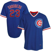 MLB Youth Chicago Cubs Ryne Sandberg Baseball Royal Cooperstown Collection Cool Base Player Jersey(China)