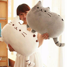 40*30cm New Kawaii Pusheen Cat Pillow With Zipper Only Skin Without PP Cotton Biscuits Kids Toys Big Cushion Cover Peluche Gifts(China)