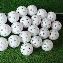 Lightweight 20Pcs/bag Airflow Durable Whiffle Hollow Perforated Plastic Golf Practice Training Balls Free Shipping
