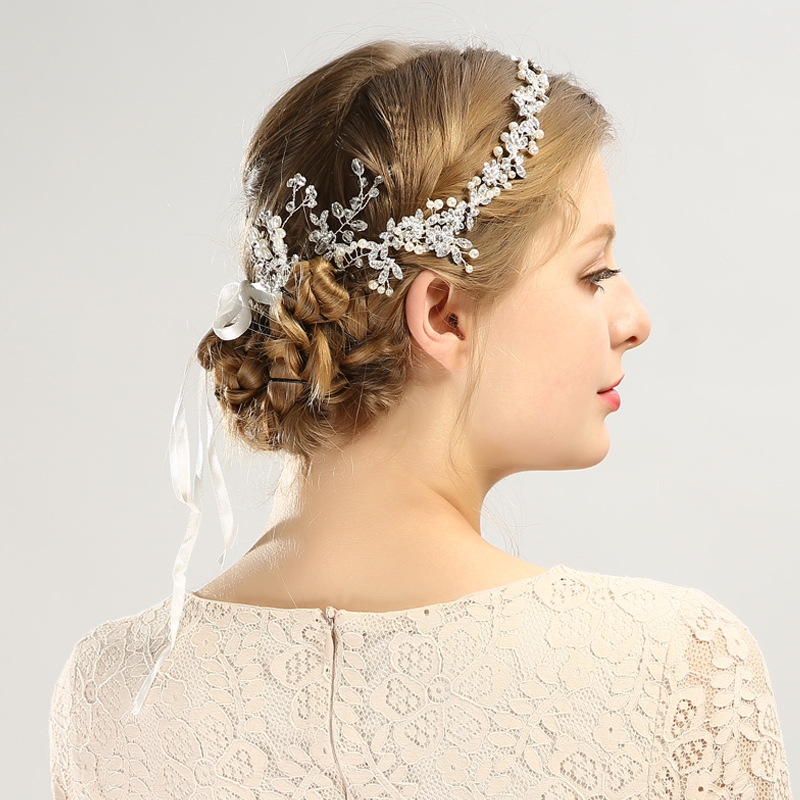 Luxury Crystal Bridal Headpiece Old Gold Wedding Rhinestone Hair Accessories Bridal Tiaras Elegent Vintage Handmade Headbands